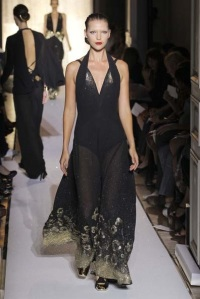 Yves-Saint-Laurent-Long-Black-Dress-at-2012-Paris-Fashion-Week-Spring